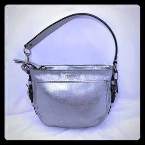 Coach Silver Zoe Hobo Leather Handbag K0882-41864